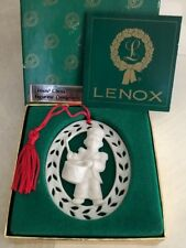 Lenox China Figurine Ornament Drummer Boy + Orig. Box White Oval 1980s Christmas