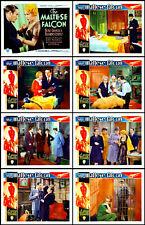 The Maltese Falcon Bebe Daniels Cortez Full Set Of 8 Ind 11x14 Lc Prints 1931