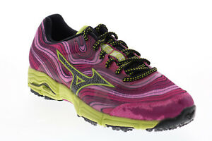 Mizuno Wave Kazan R481B56 Womens Purple Mesh Lace Up Athletic Running Shoes 8