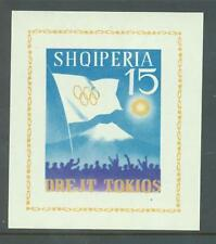 Albania 1964 Olympics sg. MS821a imperforate MNH