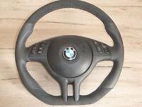 Piatto Alcantara Volante IN Pelle BMW E46 E39 X5 Con Blende Multifunzione Airbag