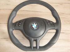 aplati Alcantara volant en cuir BMW e46 e39 x5 avec écran multifonction