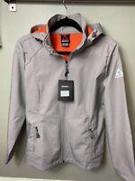 GERRY Women's Zip Rain Hooded Hiking Fall/Winter Ski Jacket L NWT Gray TG9201