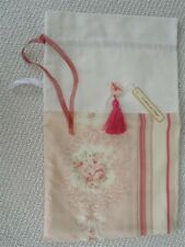 French Country Style Toile de Jouy Bag & Lecien Roses for Bottle as Hostess Gift