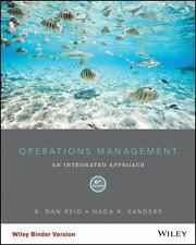 Operations Management 6th edition by Reid and Sanders (looseleaf) (no WileyPLUS)