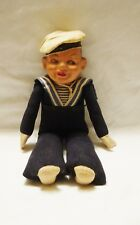 "HOLLAND AMERICA LINE SAILOR CLOTH DOLL 12""  VTG CRUISE SHIP ADV. Norah Wellings?"