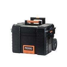 RIDGID Portable Tool Box Job Chest Toolbox Utility Storage Gear Cart w/ Wheels