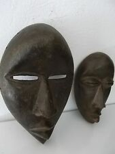 "two old african mask Dan ""passeport"" african art premier africain afrikanische"
