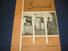 Sedgwick Machine Works Catalog 1950's Asbestos Elevator Doors