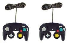 2x Negro Controller para Nintendo Gamecube Gc & Wii Nuevo Clásico Joypad