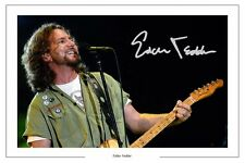 EDDIE VEDDER AUTOGRAPH  SIGNED PHOTO PRINT POSTER PEARL JAM