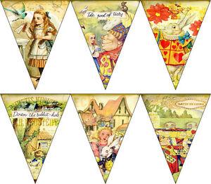 Alice in Wonderland 6 panel banner party decoration