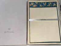 Hallmark Vintage Blue Butterfly And Floral Stationery Gold Ecru New