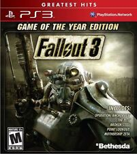 Fallout 3: Game of the Year Edition (Sony Playstation 3, 2009) Greatest Hits