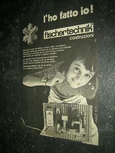 1971 -1/4 fischertechnik Werbung Katalog Prospekt catalogue catalogo pub ad