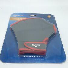 Speedo Aqua Fit Training Swim Gloves - Charcoal/Red - Medium