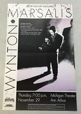 MARSALIS WYNTON JAZZ CONCERT POSTER NOV 29 1986 MICHIGAN THEATER ANN ARBOR, MI