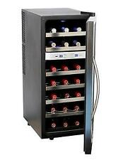 Whynter 21 Bottle Dual Temperature Zone Wine Cooler Stainless Steel WC-211DZ