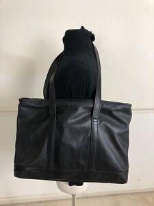 Vintage Coach  X LARGE-black Leather Tote Shoulder weekender  Shopper Work Bag