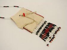 Beaded Hand-Made Tribal Genuine Hide Medicine Bag