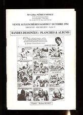 Catalogue Sale Comics Auction Neret Minet 01/10/1994+Results