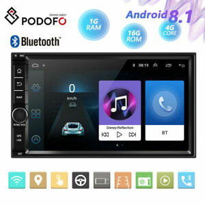 """1GB+16GB 2Din Android 8.1 Car Stereo Radio GPS Wifi Touch Screen MP5 Player 7"""""""