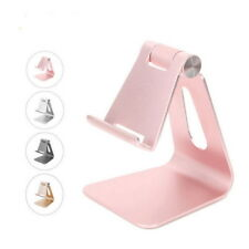 Foldable Aluminum Desktop Desk Stand Holder Mount For Cell Phone iPhone Tablet