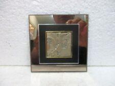 Petite plaque décorative signée, en argent 925
