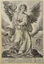 CHERUB ERZENGEL JOPHIEL ADAM EVA KUPFERSTICH CRISPIJN VAN DE PASSE ENGRAVING K03
