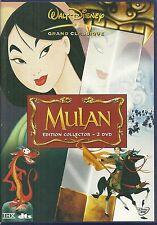 EDITION COLLECTOR 2 DVD - WALT DISNEY : MULAN / DESSIN ANIME