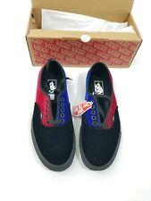 VANS Velvet Tri Tone Black Blue Red Smoking Shoes Sneaker Sz 10 NWB