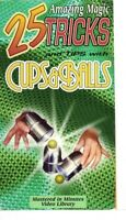 25 Amazing Magic Tricks and Tips with Cups and Balls VHS Video Tape Magician