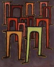 Abstract Modernist Paul Klee Vintage Lithograph Revolution or the Viaduct #S26