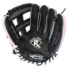 "Reliance Diamond 11.5"" LEFT HAND THROW BASEBALL GLOVE Cool Mesh Lined BLACK/PINK"