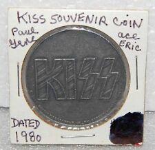 1980 KISS Rock & Roll Souvenir Coin Eric Carr Paul Stanley Gene Simmons