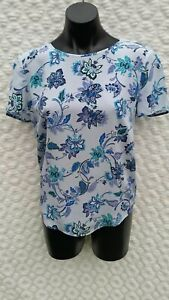 Marcs Top Size 6 - Pure Silk - Blue tone - Feminine and soft - LOVELY!