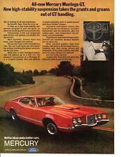 1972 MERCURY MONTEGO GT / OPTIONAL 302 V-8 UP TO 429 4-V ~ ORIGINAL PRINT AD