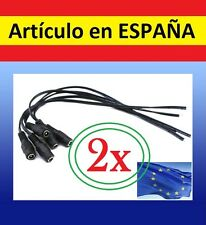 2x CABLE ADAPTADOR 12V 2,1mm para CAMARA DE SEGURIDAD repuesto CCTV macho hembra