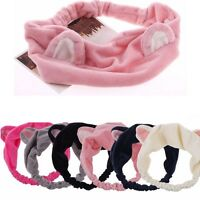 Cute Sweety Cat Ear Soft Towel Hair Band Wrap Headband For Bath Spa Make Up