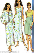 Simplicity 8564*Bridal Party Semi-Formal Jacket & Empire Dress Pattern*14-18*FF