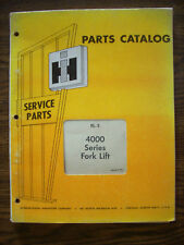 IH Farmall Mccormick 4000 Series Forklift Parts Manual