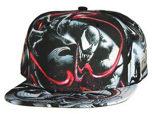 Marvel Comics Venom Sublimated All Over Print Snapback Hat Cap NEW
