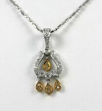 """Diamond Antique Style Pendant 18k Two-Tone Gold with 0.20ct  """"CLOSE-OUT"""""""