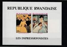 Rwanda postfris 1980 MNH block 90B - Impressionisten (S2401)