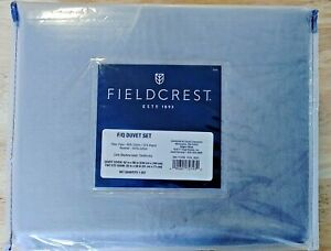 """Fieldcrest Gray Velvet 3 Pc Duvet Cover Set FULL/QUEEN 92"""" Wide x 96"""" Long"""
