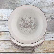 VTG 4 Va Au Lave-Vaisselle Fait A La Main Soup Salad Bowls Collection Manoir