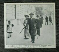AD) Blatt Prinz Chira von Siam 1907 Oberstkommandierende Armee in Berlin ++
