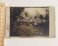 Military Group Photograph Postcard Feldpost Feldport? German? War Soldiers
