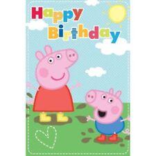 Invitaciones y felicitaciones de fiesta de Peppa Pig