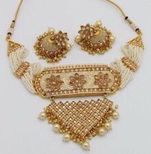 Ethnic Indian Traditional Meenakari Diamond Gold Plated Imitation Choker Set